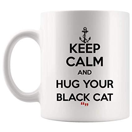 Amazon.com: Hug Black Cat Cats Pet Cute Mug Coffee Cup   Funny Tea ... #blackCoffee