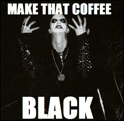 "Well, not in my case.....gotta have the ""fruffed"" up version ... #blackCoffee"