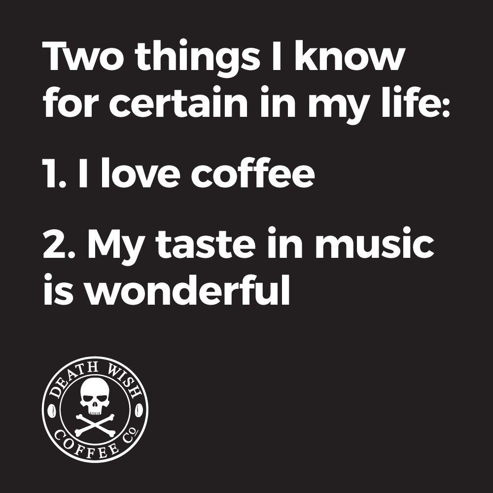 Coffee and Music Equal Wonderful Time   because...coffee   Coffee ... #blackCoffee