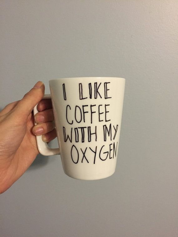 I like coffee with my oxygen - Gilmore Girls quote mug | Coffee ... #iLoveCoffee