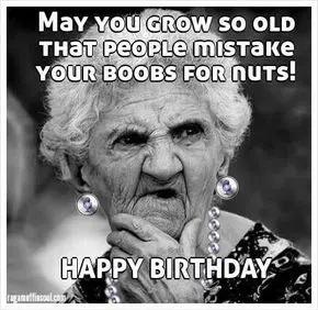 Best Birthday Quotes : Funniest Happy Birthday Meme Old Lady ... #birthdayCoffee