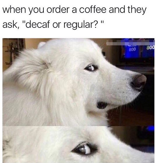 20 Funny Coffee Memes That'll Perk Up Your Day | SayingImages.com #decafCoffee