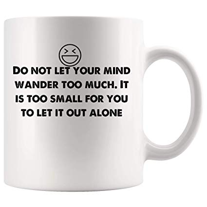Amazon.com: It is too small for you to let it out alone Funny Mugs ... #tooMuchCoffee