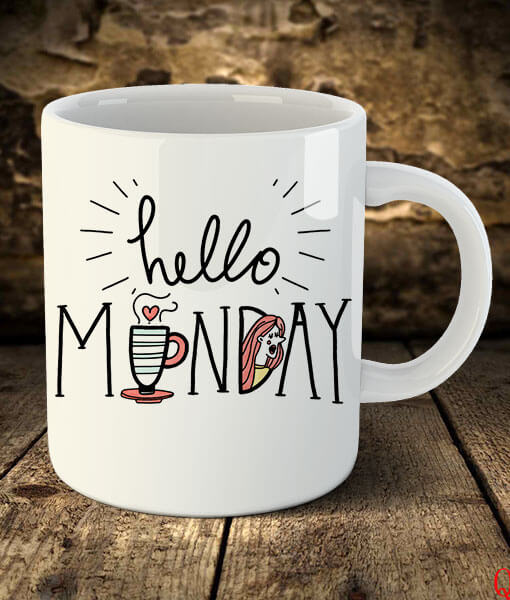 """Hello Monday"""" Cute Coffee Mug - Fast Delivery, Easy Payments #mondayCoffee"""
