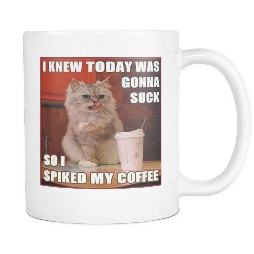 Irish coffee cat meme double sided 11 ounce mug | Cats! | Irish ... #irishCoffee
