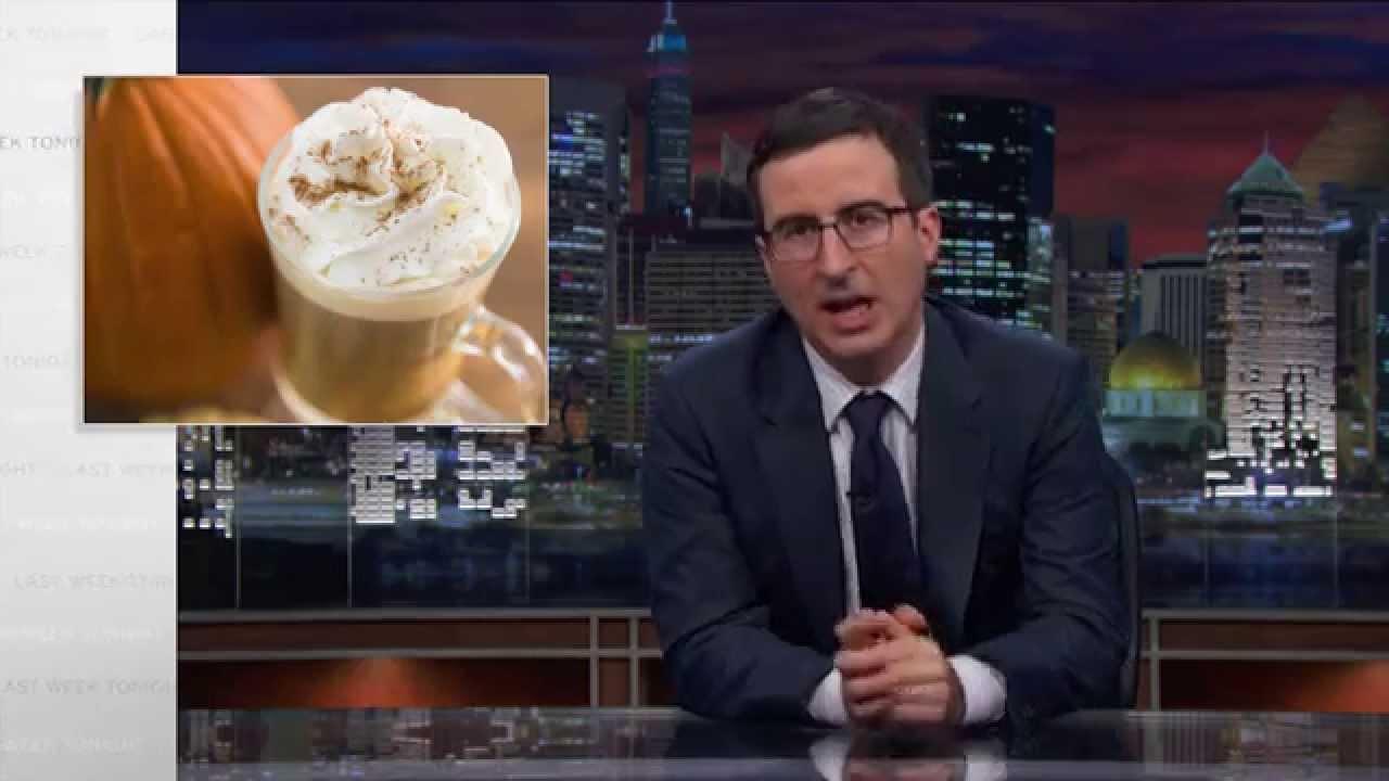 John Oliver Takes Down Pumpkin Spice Latte on HBO Last Week ... #irishCoffee