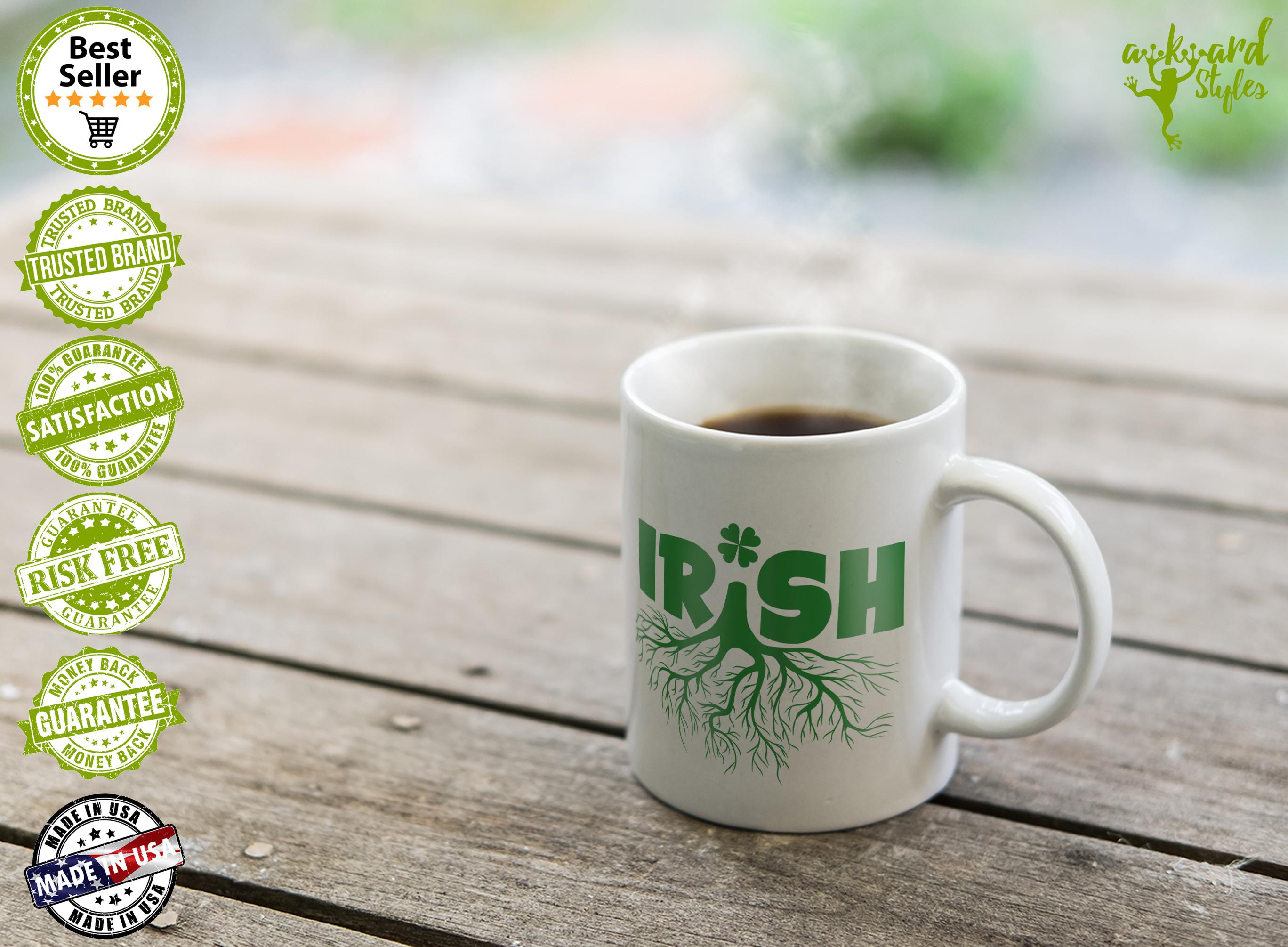 St Patrick's Day Mugs Proud Irish Coffee Mug Gifts – Awkwardstyles #irishCoffee