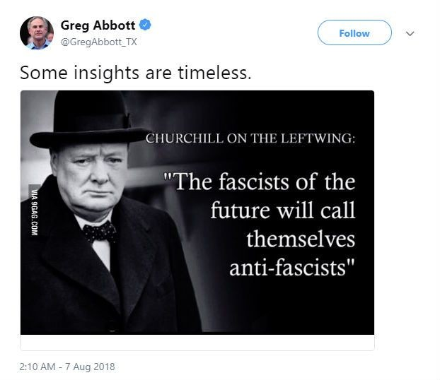 Oops! Greg Abbott Shares Meme with Fake Churchill Quote to Make ... #irishCoffee