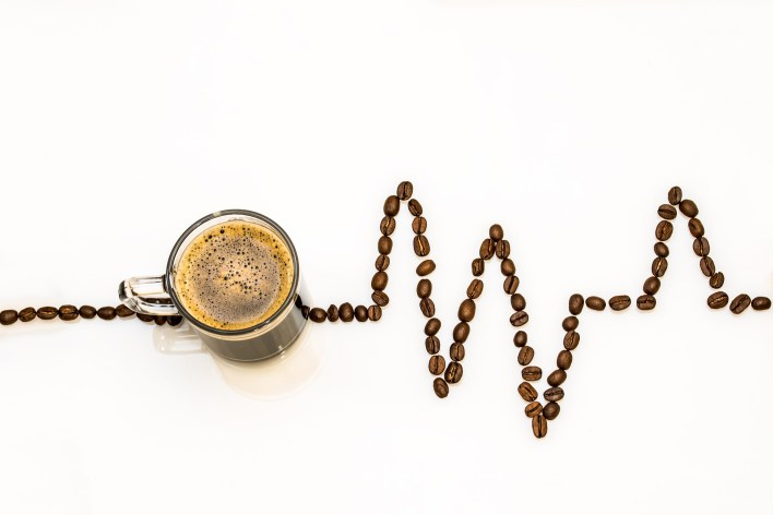 national coffee day coffee beans heart beat design #coffeeBean