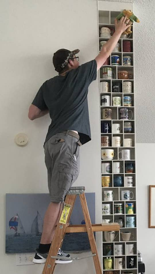 This Man Built A Whole Wall For His Girlfriend's Mug Collection ... #coffeeBuzz