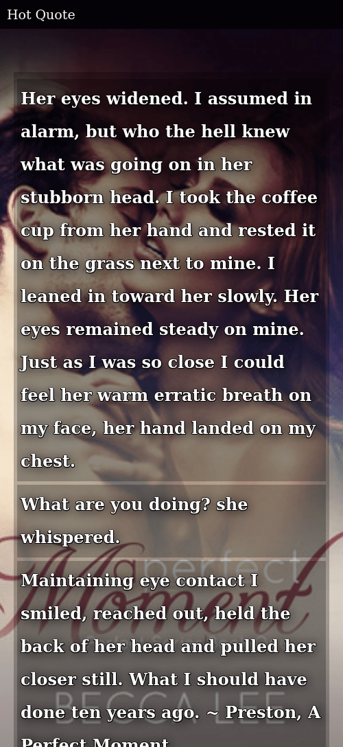Her Eyes Widened I Assumed in Alarm but Who the Hell Knew What Was ... #coffeeBreath