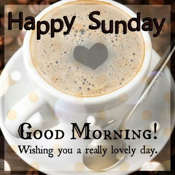 Happy Sunday Good Morning Coffee Quote Pictures, Photos, and ... #sundayCoffee