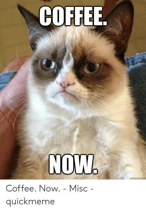 COFFEE NOW Coffee Now - Misc - Quickmeme   Coffee Meme on ME.ME #coffeeNow
