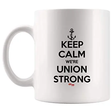 Amazon.com: Keep Calm Union Strong Team Mug Coffee Cup Funny Tea ... #strongCoffee