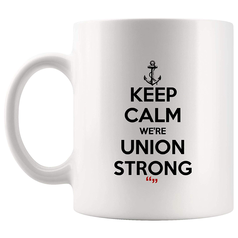 Amazon.com: Keep Calm Union Strong Team Mug Coffee Cup Funny Tea ... #strongCoffee