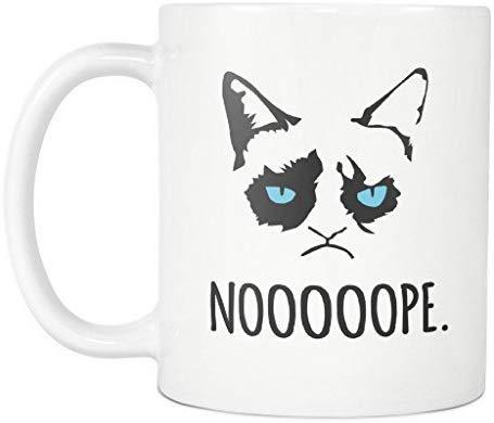Grumpy Cat Funny Bad Attitude Kitty Nope I Do What I Want Meme Cat ... #strongCoffee
