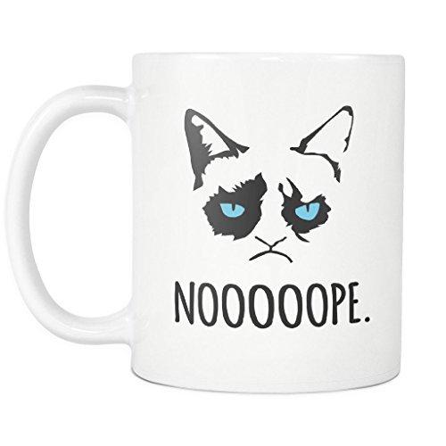 Amazon.com: Grumpy Cat Funny Bad Attitude Kitty Nope I Do What I ... #strongCoffee