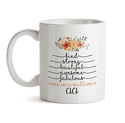 Amazon.com: Inspirational Gifts For Women - Cici Mug - B2 Cute ... #strongCoffee