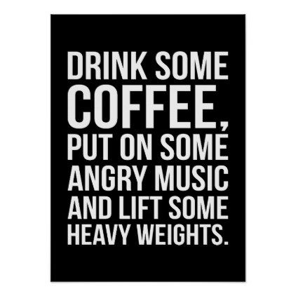 Workout Motivational Poster   Zazzle.com   Workout humor, Fitness ... #angryCoffee