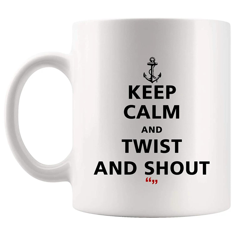Amazon.com: Keep Calm Twist And Shout Angry Mug Coffee Cup Tea ... #angryCoffee