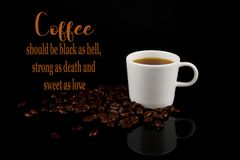Funny Coffee Memes,black As Hell And Sweet As Love Stock Image ... #angryCoffee