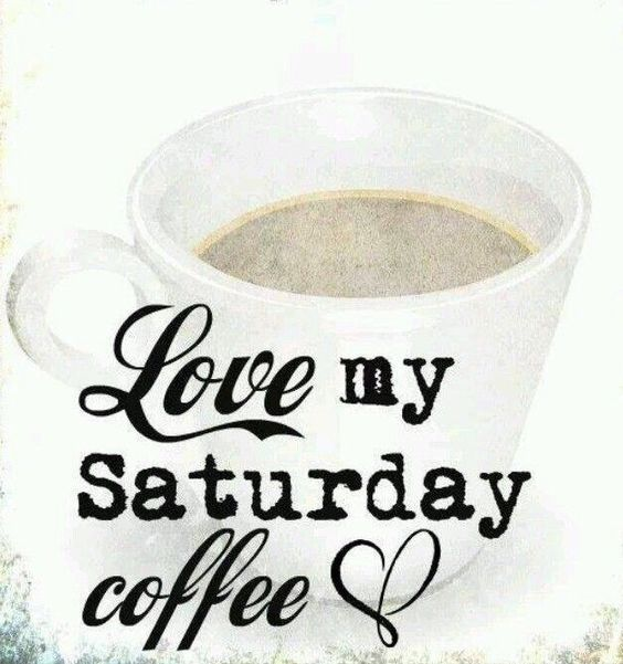Loving my Saturday morning!! #saturdayCoffee