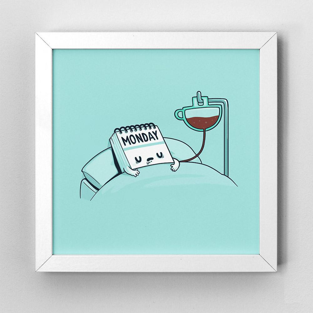 Monday Coffee - Art Print - Naolito #mondayCoffee