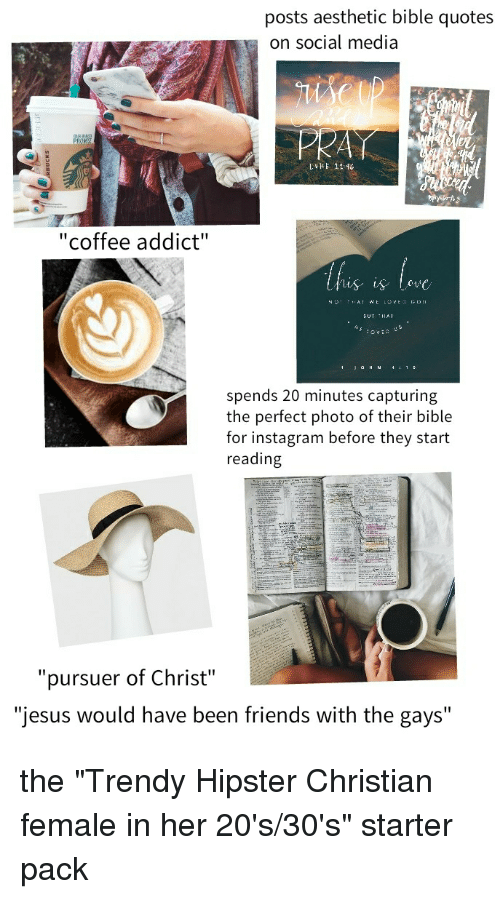 Posts Aesthetic Bible Quotes on Social Media Coffee Addict Spends ... #coffeeAddict