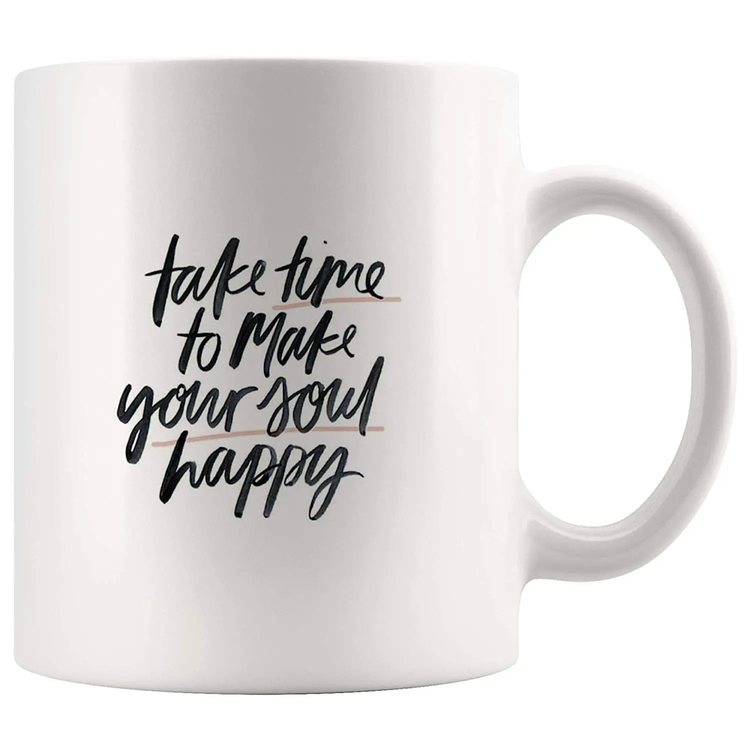 Amazon.com: Take Time Make Soul Happy Funny Mugs - Joke Coffee Mug ... #coffeeTime