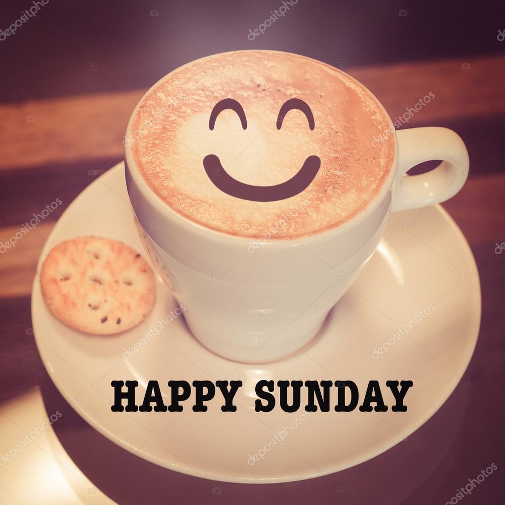 Happy Sunday with coffee cup — Stock Photo © parinyabinsuk #98859554 #sundayCoffee