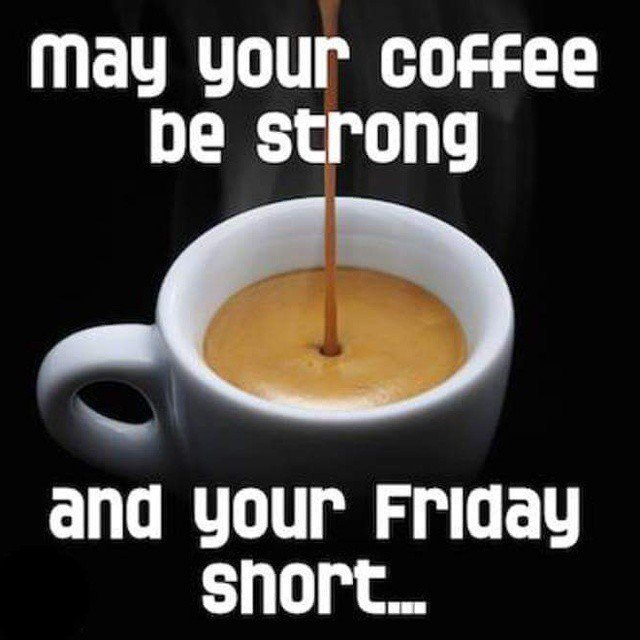 """AeroPress on Twitter: """"#HappyFriday May your coffee be strong and ... #coffeeFriday"""