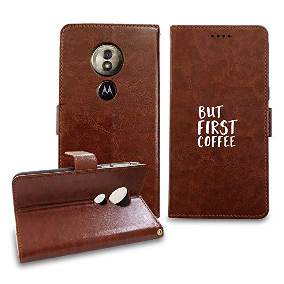 Amazon.com: [NickyPrints] Leather Wallet Case for Motorola Moto G6 ... #coffeeLovers