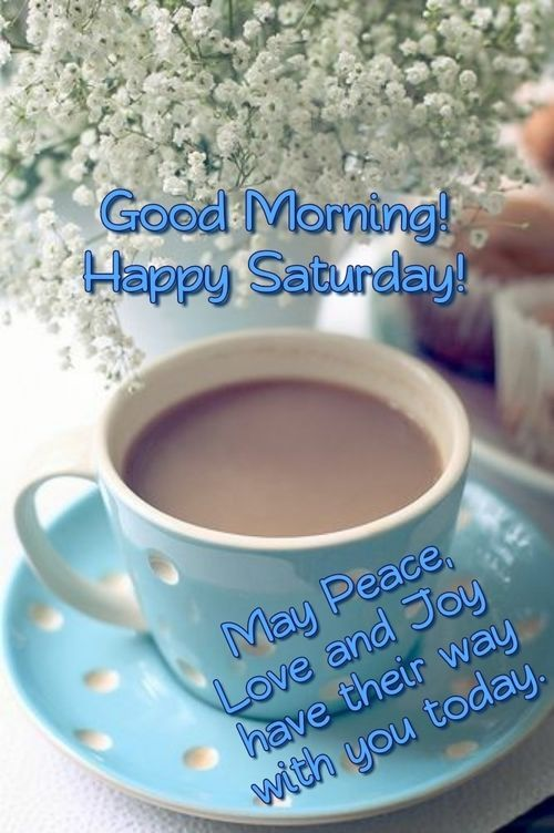 Good morning.Happy Saturday! #saturdayCoffee