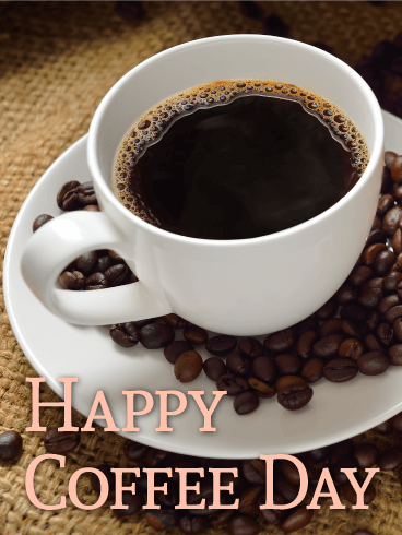 Just Dripped! Happy Coffee Day Card | Birthday & Greeting Cards by ... #happyCoffee