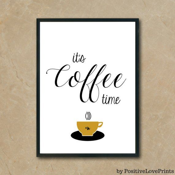 Gym Wall Art, Printable Fitness Decor, Exercise Motivation, Train ... #coffeeTime