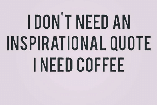 DON'T NEED AN INSPIRATIONAL QUOTE I NEED COFFEE | Meme on ME.ME #needCoffee