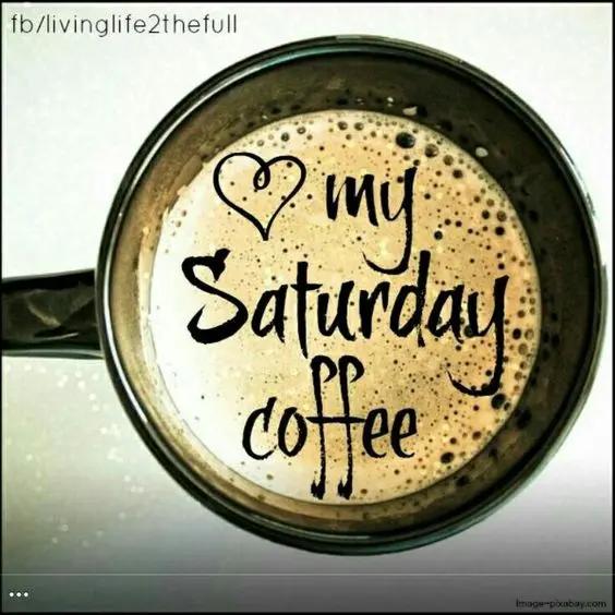 Still loving my Saturday morning coffee. #saturdayCoffee