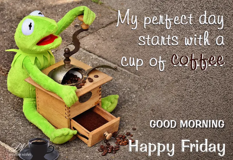 Happy Friday – Start your day with steaming coffee | Friday Wishes ... #coffeeFriday