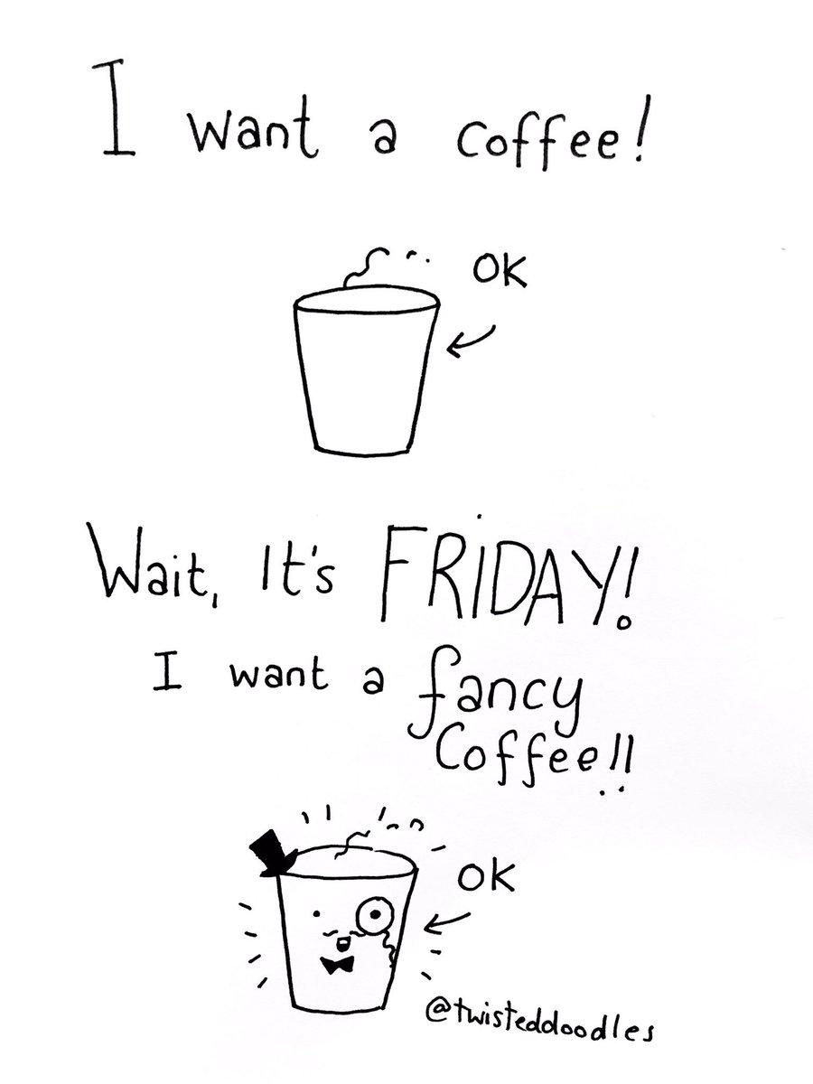"TwistedDoodles on Twitter: ""Friday coffee! #FridayFeeling #coffee… "" #coffeeFriday"