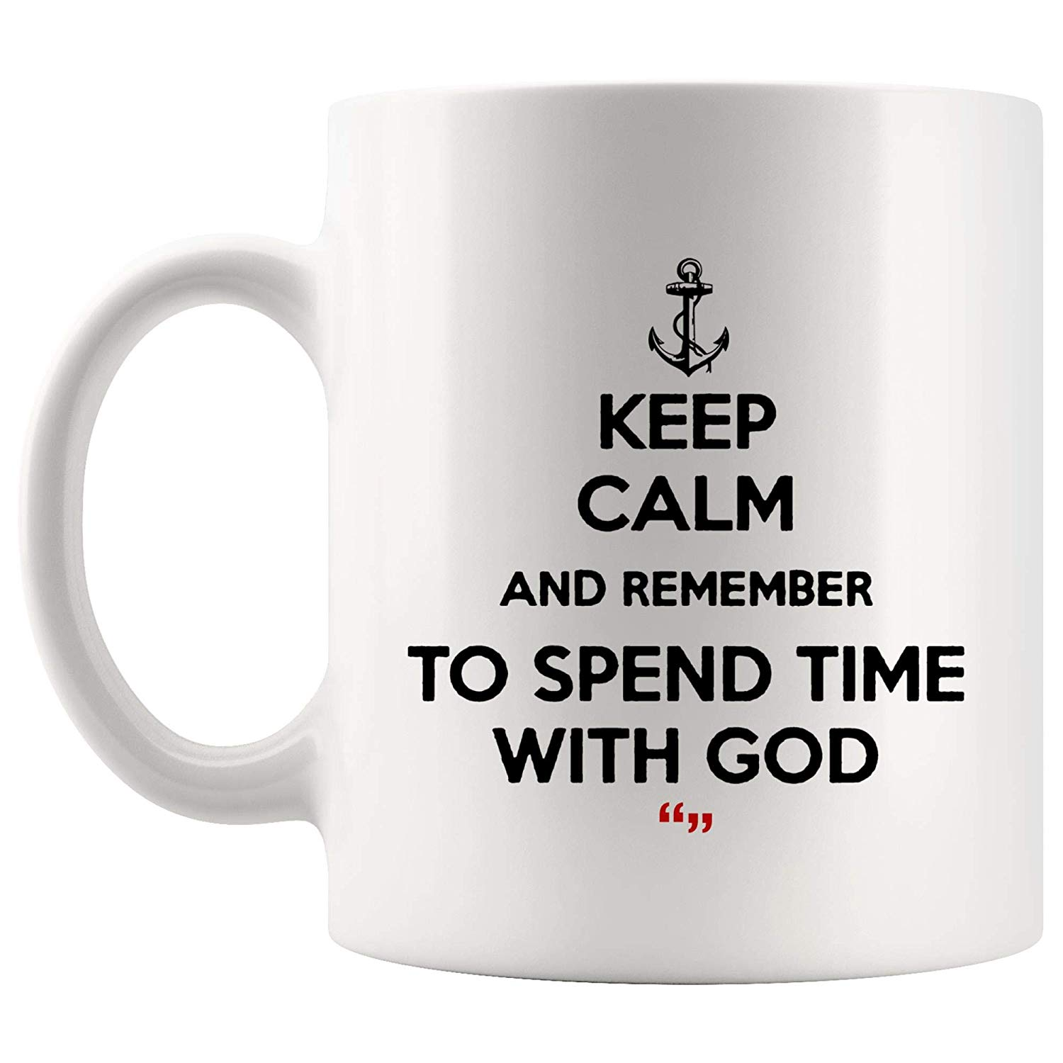 Amazon.com: Keep Calm Remember Spend Time With God Pray Coffee Mug ... #coffeeTime