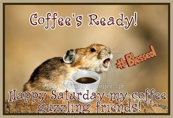 Coffee's ready. Its Saturday #saturdayCoffee