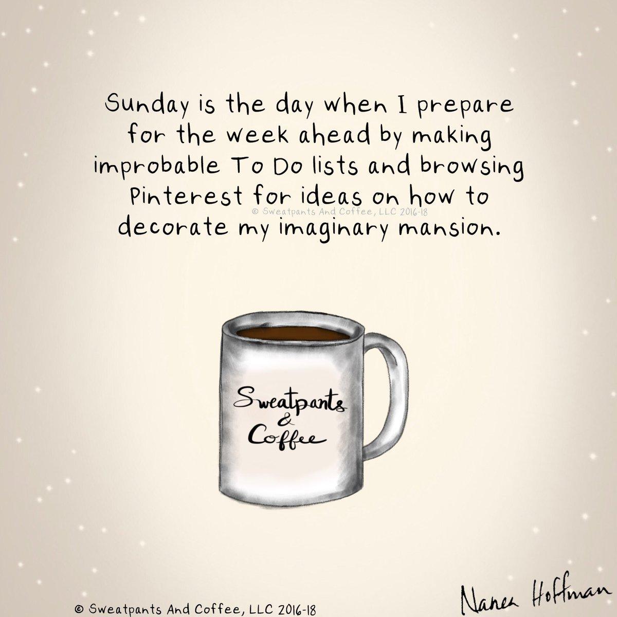 "Sweatpants & Coffee on Twitter: ""Happy Sunday! #coffee #coffeetime ... #sundayCoffee"