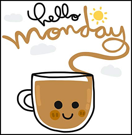 Amazon.com: Hello Monday Happy Coffee Mug Cartoon Icon (Border ... #happyCoffee